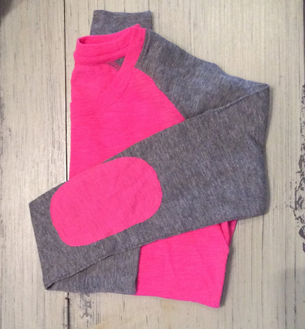 Hot Pink Preppy Patch Tee