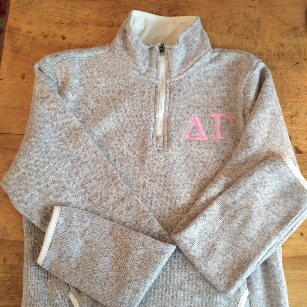 Monogrammed Sweater with Greek Symbols or Initials