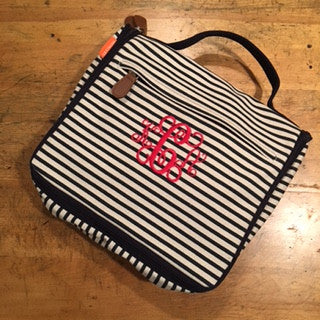 Striped Monogrammed Travel Bag
