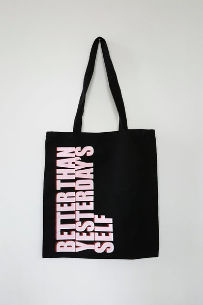 Unisex statement Tote bag BETTER THAN YESTERDAY'S SELF
