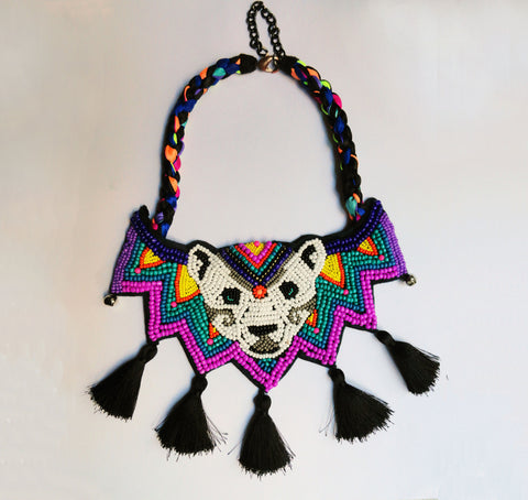 Tribal neon Cocorosie inspired necklace