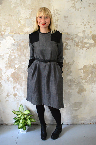 Space Warrior Princess becomes Queen and Goes to Work Dress - Grey with black details