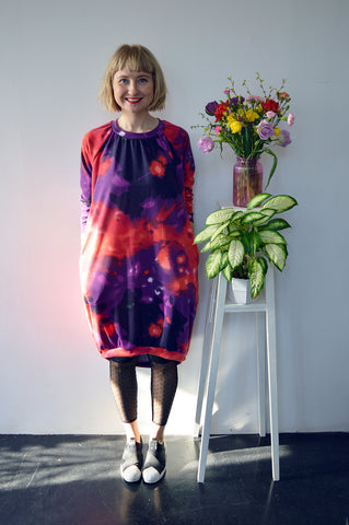 Colorful and Fun Oversized Sweaterdress