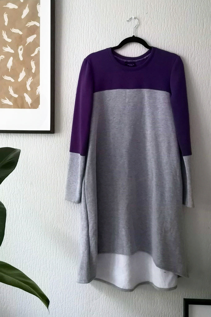 The Warmest Dress in the World - LightGrey + Purple