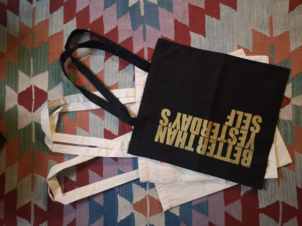 Handprinted Original Statement Cotton Tote Bags