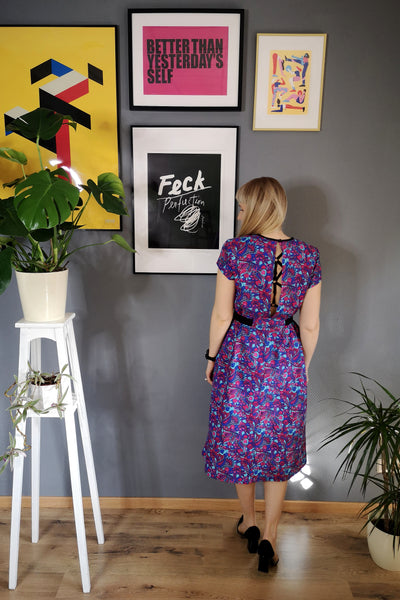 Colorful and Versetile Cotton Midi Dress with Pockets