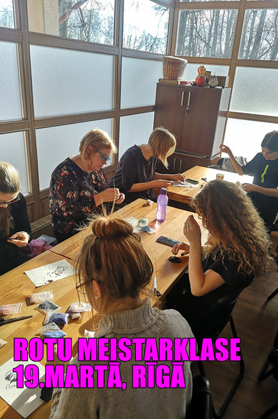 2 - 3 hour malvine.lv Accessory workshop on March 19, 2019