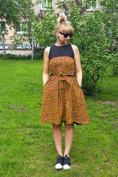 Mama Africa Crazy Banana Summer Party Dress
