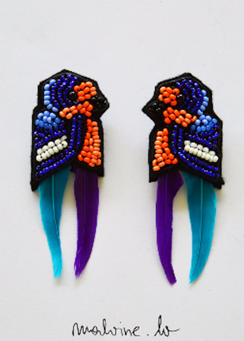 "Eva earrings ""The Swallow"""