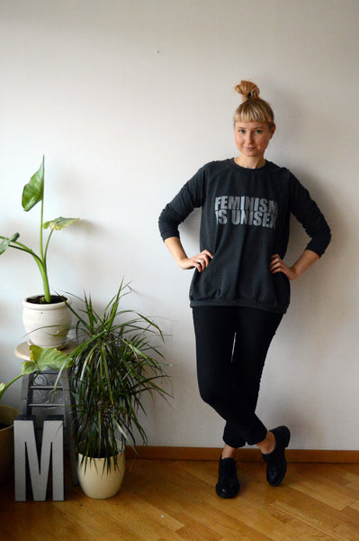 Unisex sweater F=U: Graffit grey + grey