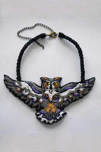"Totem necklace ""The Eagle Owl"""