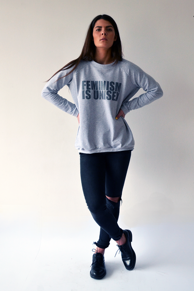 Unisex sweater F=U: Light grey + grey