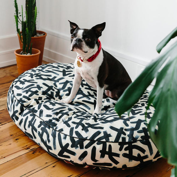Brushstrokes Dog Bed
