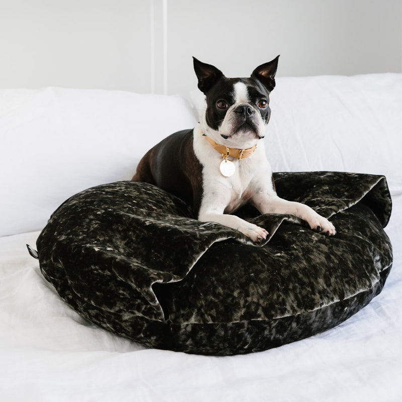 Velvet Snuggle Dog Bed - Sage