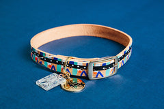 Coco Leather Dog Collar