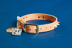 Sumo Spike Leather Dog Collar