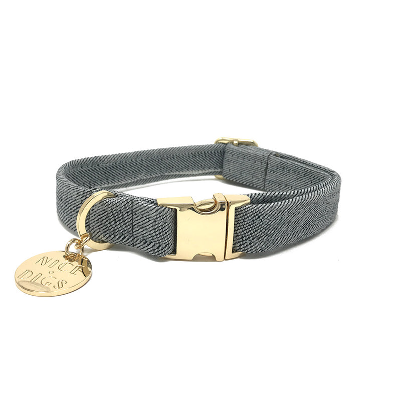 Light Denim Dog Collar