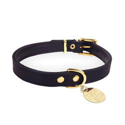 Baxter Classic Leather Collar - Black