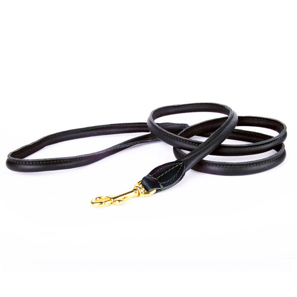 Charlie Nappa Leather Leash - Black