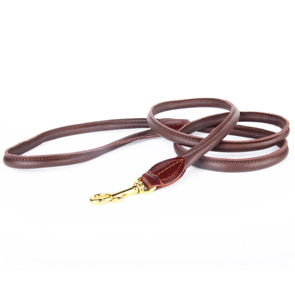 Charlie Nappa Leather Leash - Chocolate