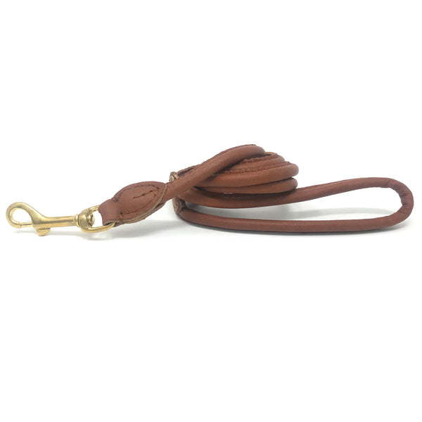 Charlie Nappa Leather Leash - Vintage Tan