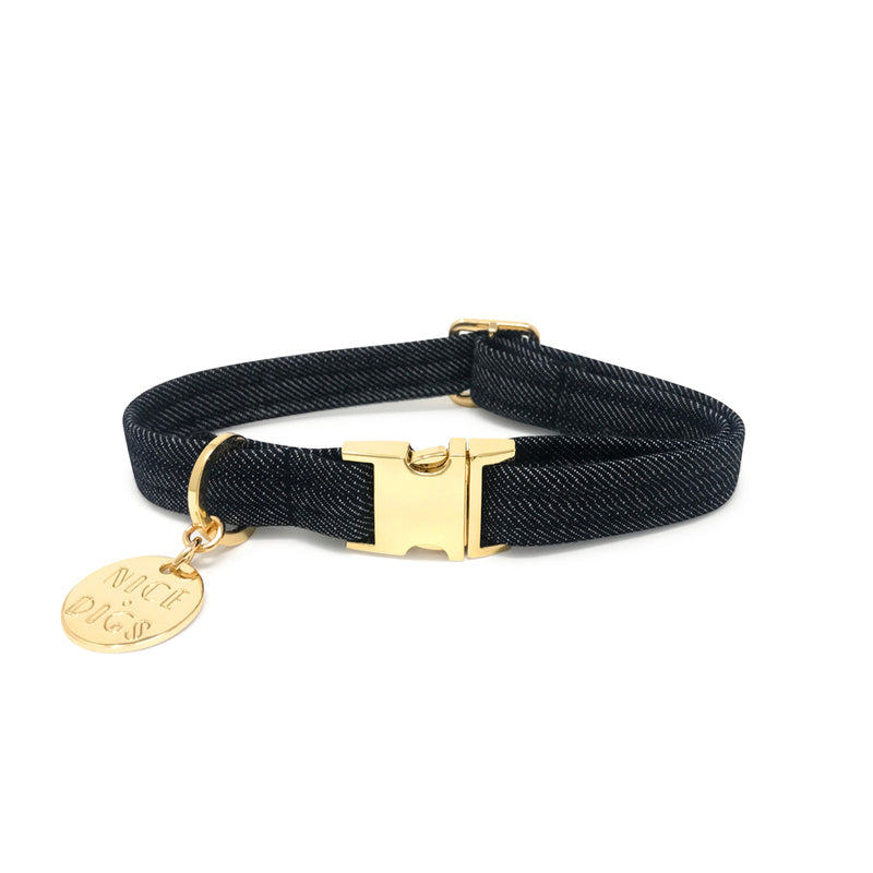 Dark Denim Dog Collar