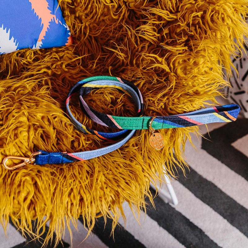 Easy Tiger Printed Leash - Blue