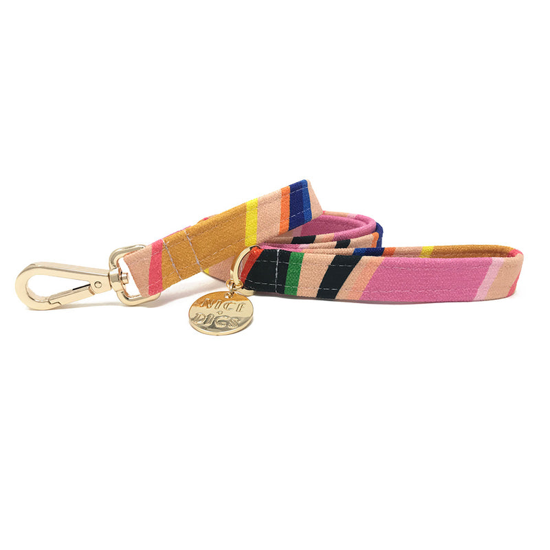 Easy Tiger Printed Leash - Pink
