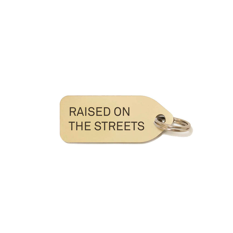 Raised on the streets Dog Charm - Gold