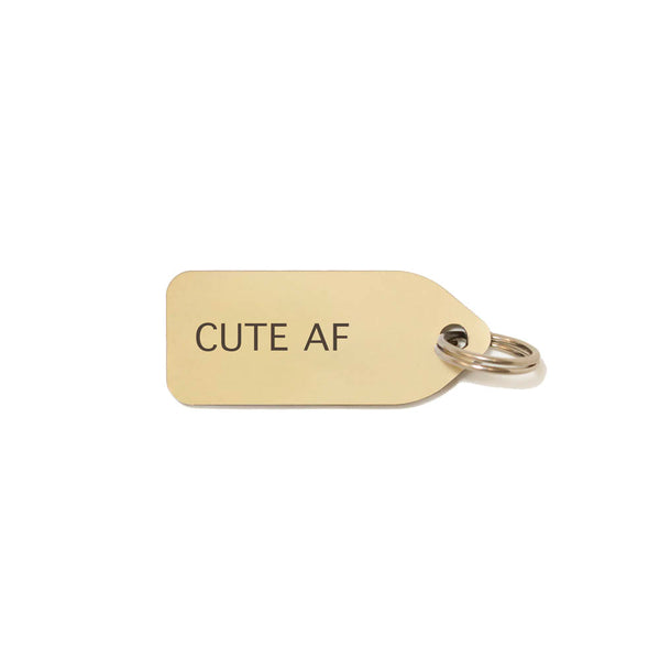 CUTE AF Dog Charm - Gold