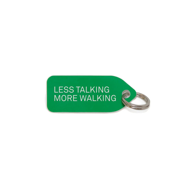 Less talking, more walking Dog Charm - Green