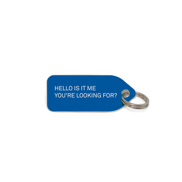 Hello, is it me you're looking for? Dog Charm - Blue