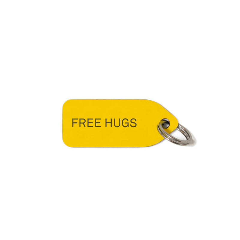 Free Hugs Dog Charm - Yellow