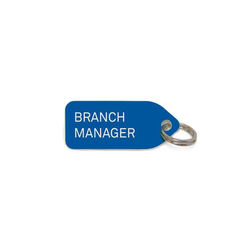 Branch Manager Dog Charm - Dark Blue
