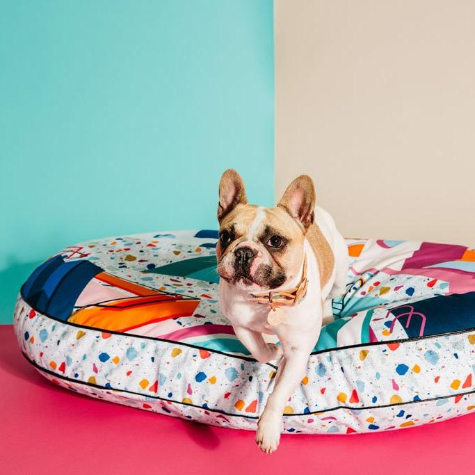 Palm Springs Digitally Printed Dog Bed