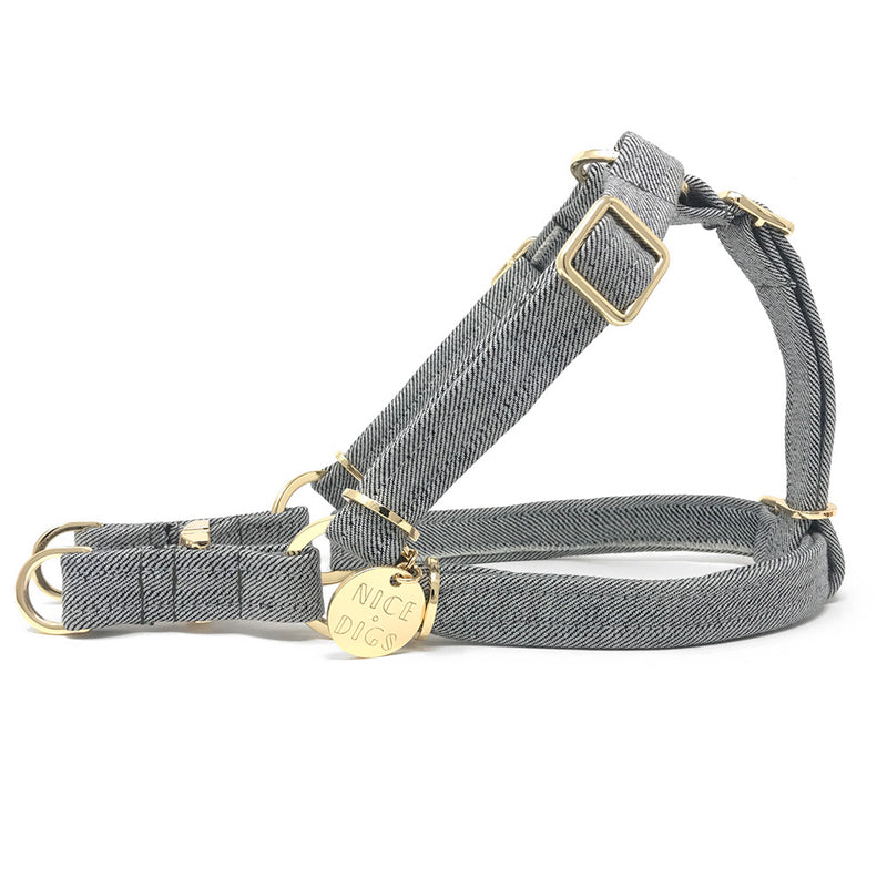 Light Denim Non-Pull Dog Harness