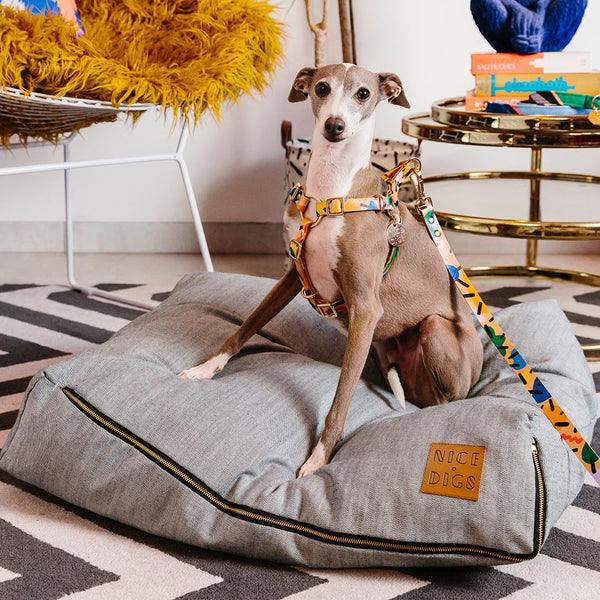 Light Denim Slouch Dog Bed