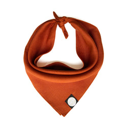 Linen Dog Bandana - Terracotta