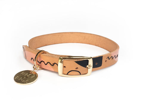 Modern Form Leather Dog Collar