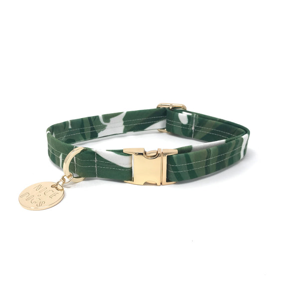 Monstera Printed Dog Collar