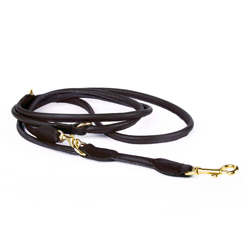 Rex Adjustable Nappa Leather Leash - Black