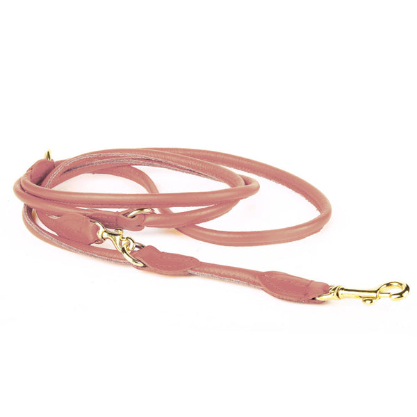 Rex Adjustable Nappa Leather Leash - Cognac
