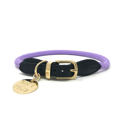 Rope Dog Collar - Orchid