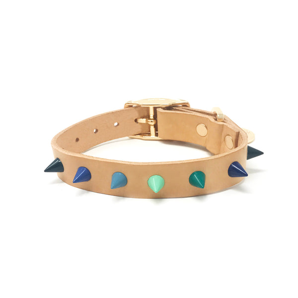 Spike Leather Dog Collar - Lush