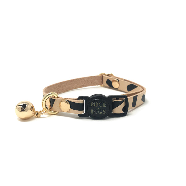 Tiggy Leather Cat Collar - Black