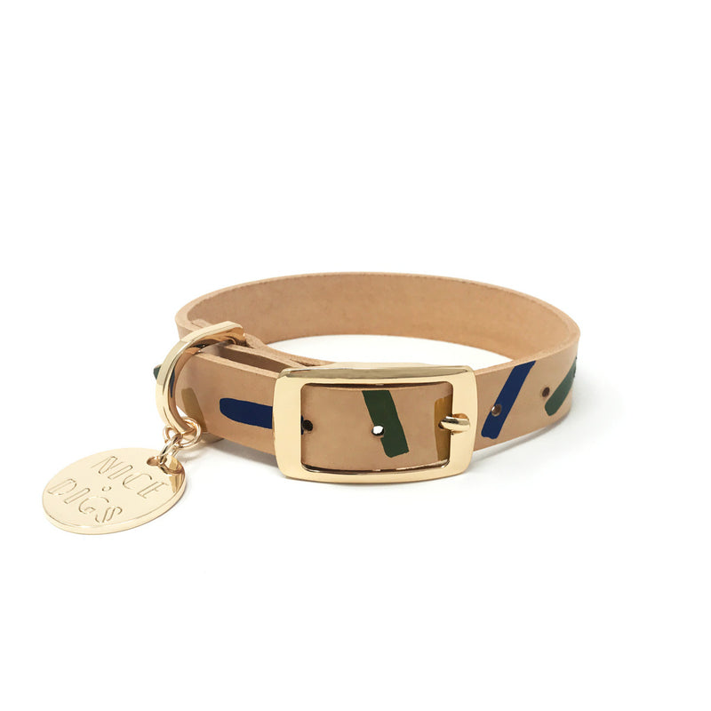 Tiggy Leather Dog Collar - Lush