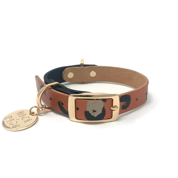 Two Tone Dog Collar - Copper Animal