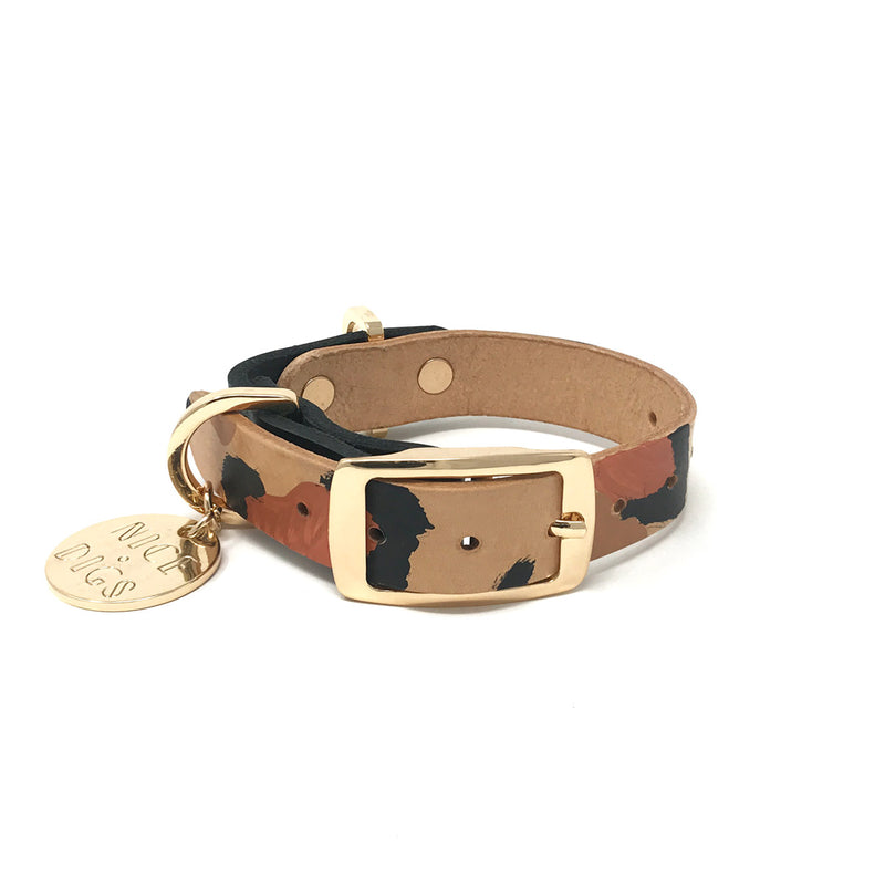 Two Tone Dog Collar - Tan Animal