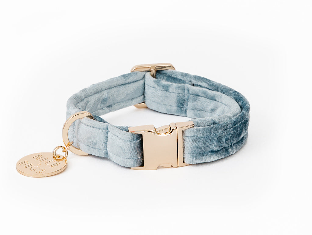 Velvet Dog Collar - Mirage