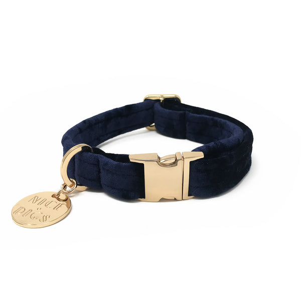Velvet Dog Collar - Midnight
